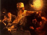 Rembrandt, La fête de Belshazzar