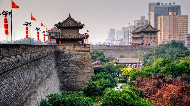 La muralla de la antigua ciudad de Xi'an