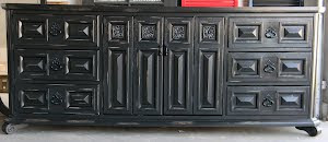 Black Distressed Dresser  *SOLD*