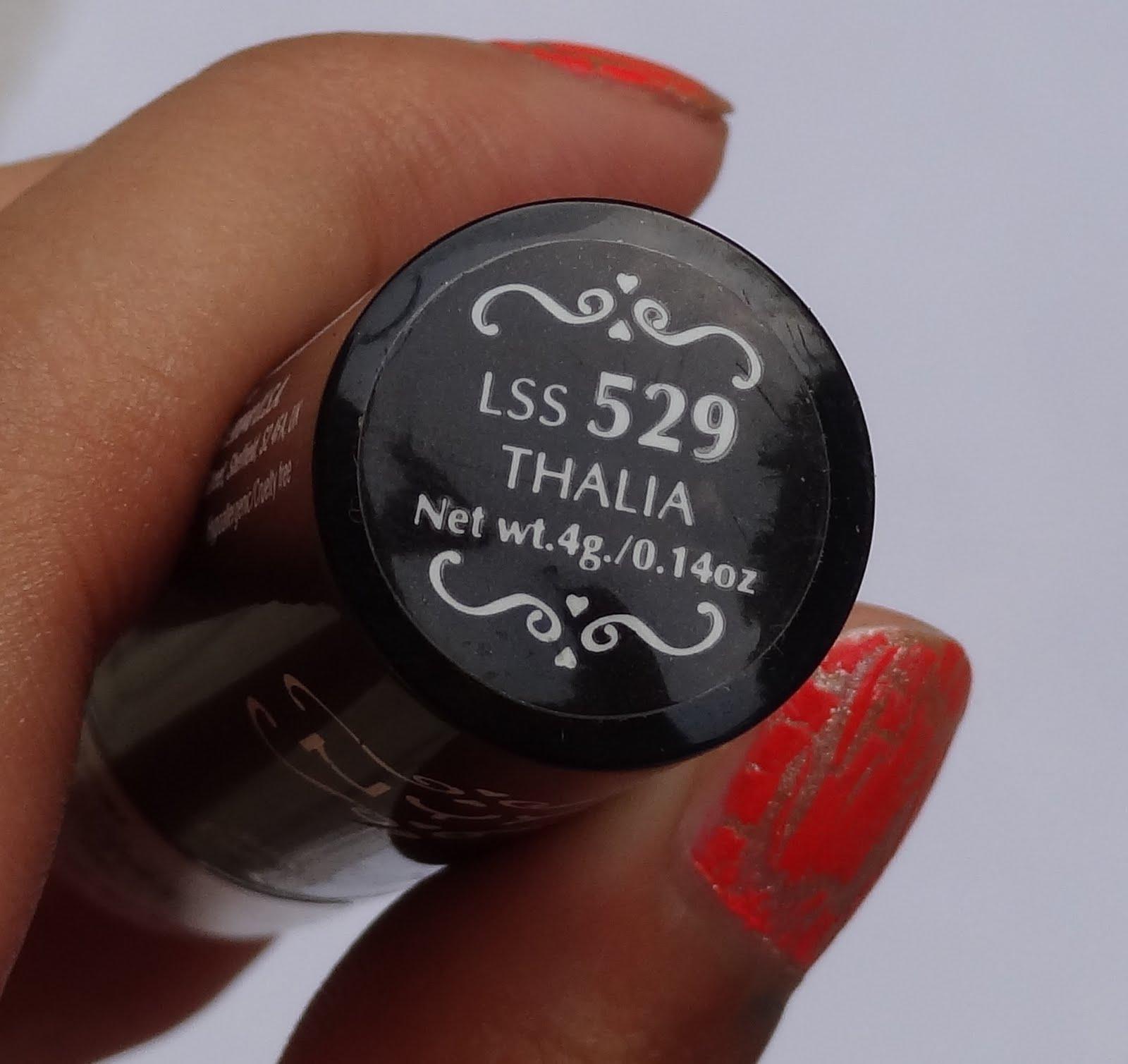 nyx thalia lipstick swatches review photos