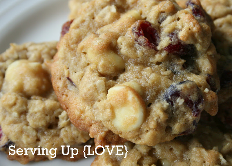 ... Serving Up {Cookies}: Oatmeal Cranberry White Chocolate Chunk Cookies