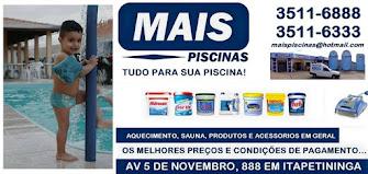 MAIS PISCINAS PISCINAS DE FIBRA E VINIL