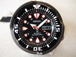 SEIKO DIVER NEW TUNA BLACK DIAL - CERAMIC SHROUD - SEIKO SRP655 - AUTOMATIC 4R36 - 50th SEIKO DIVER