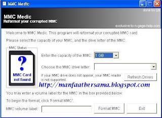 mmc medic / sofware repair kartu memori