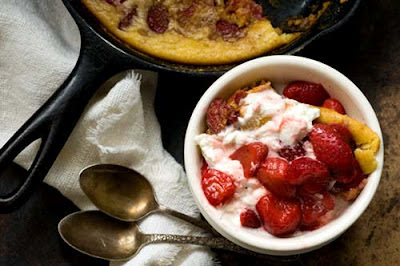 strawberry spoon bread