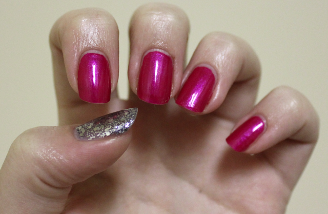 Estee Lauder Berry Hot and Deborah Lippmann Today Was A Fairytale Swatch