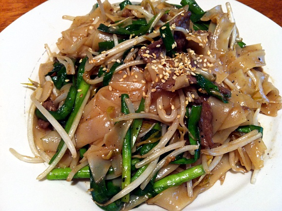 Beef Chive Stir Fried Rice Noodles Seonkyoung Longest