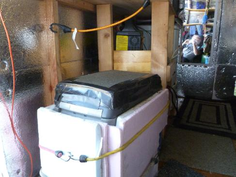 Refridgerator with extra insulation Chest box Waeco Dometic