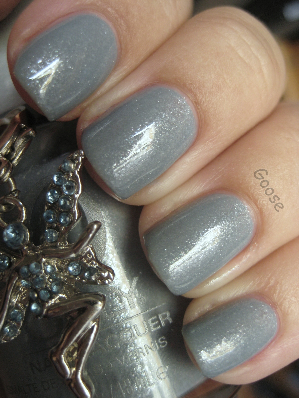 goose u0026 39 s glitter  first snow   orly pixie dust and nubar white polka dot
