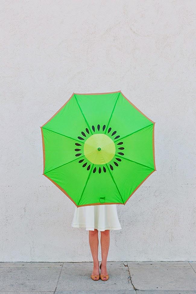 Paraguas rodaja de kiwi