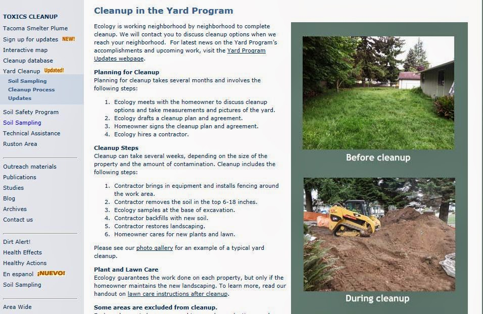 New webpage about the process for removing and replacing soil in the Yard Program