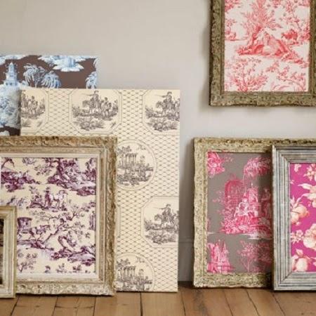 Cuadros decorativos con papel y tela reciclados - Papel y telas ...