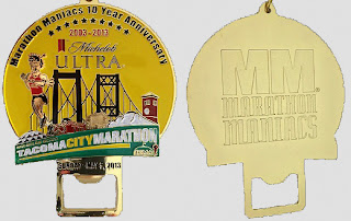 2913 Tacoma City Marathon - Marathon Maniac's Finishers Medal