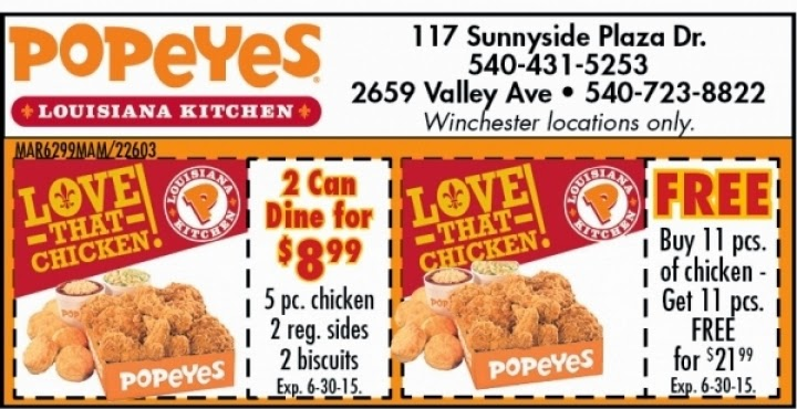 photo relating to Popeyes Coupon Printable named Popeyes hen discount coupons could possibly 2019