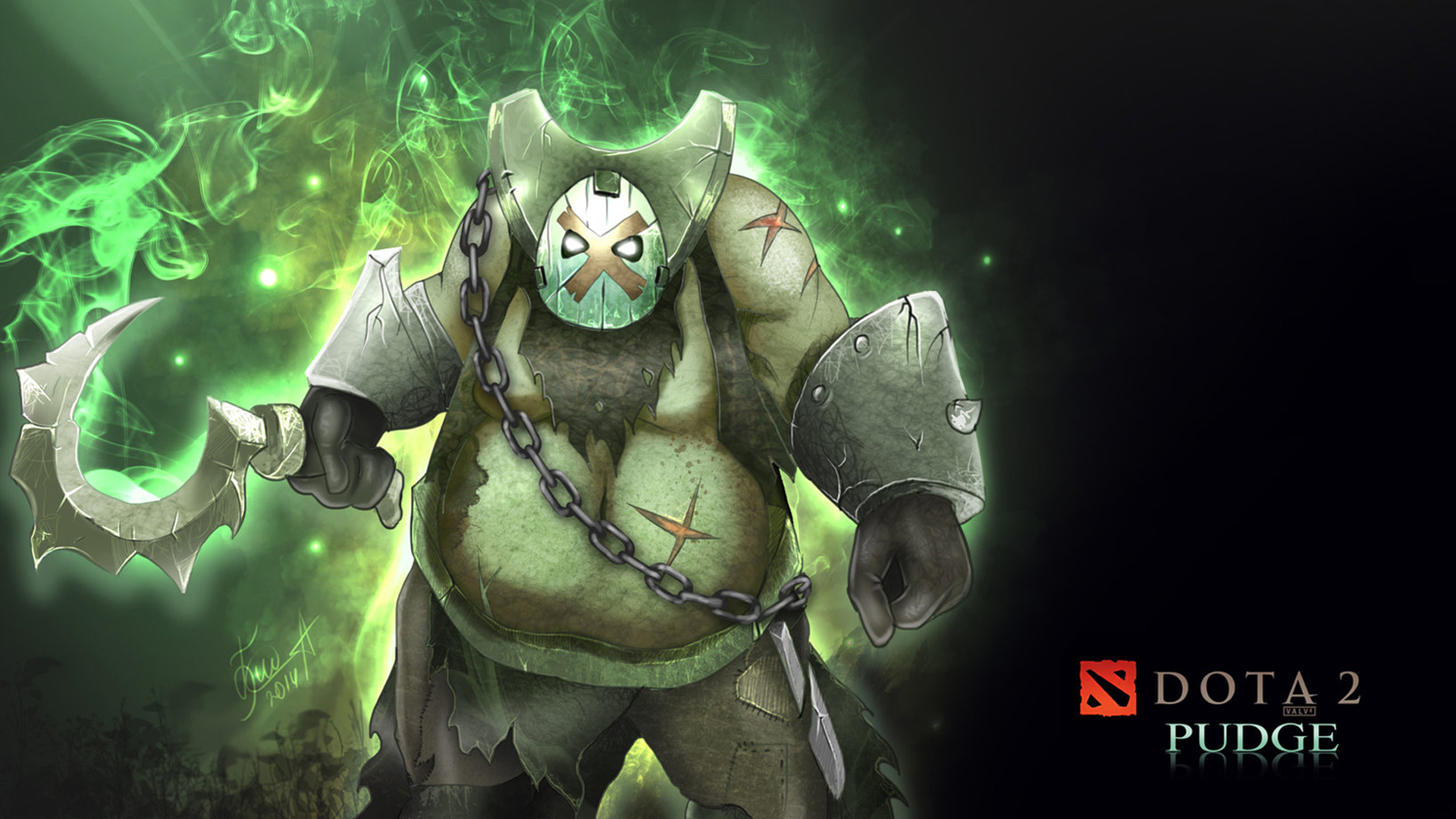 dota 2 pudge art 0b wallpaper hd
