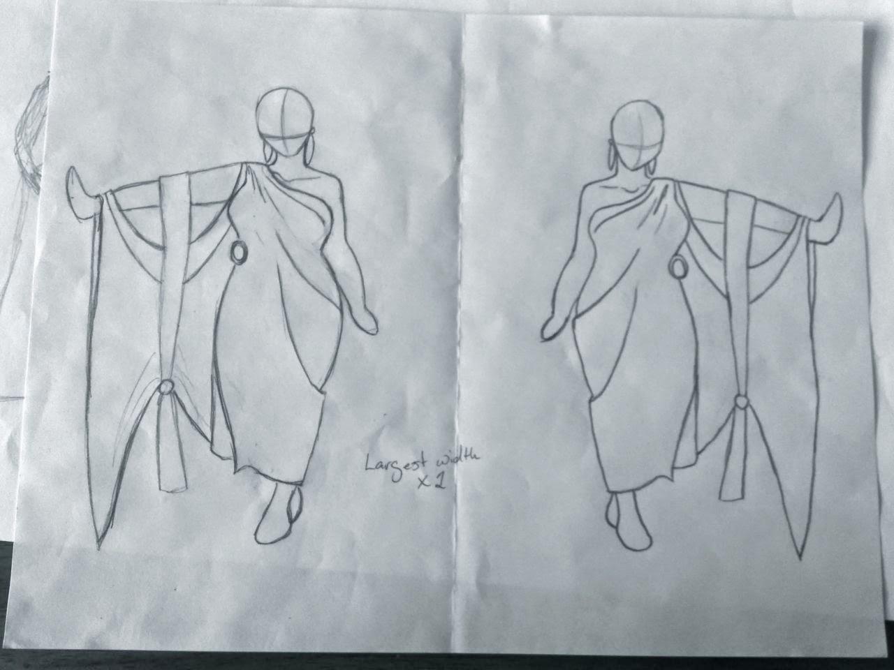 Original Erté inspired designs for Officiants.