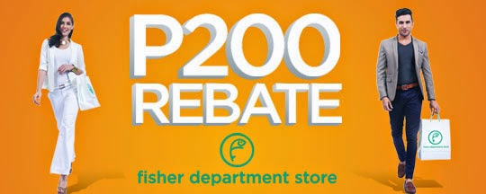 BPI Credit Card Promo, P200 Rebate at Fisher Department Store, Philippines promo