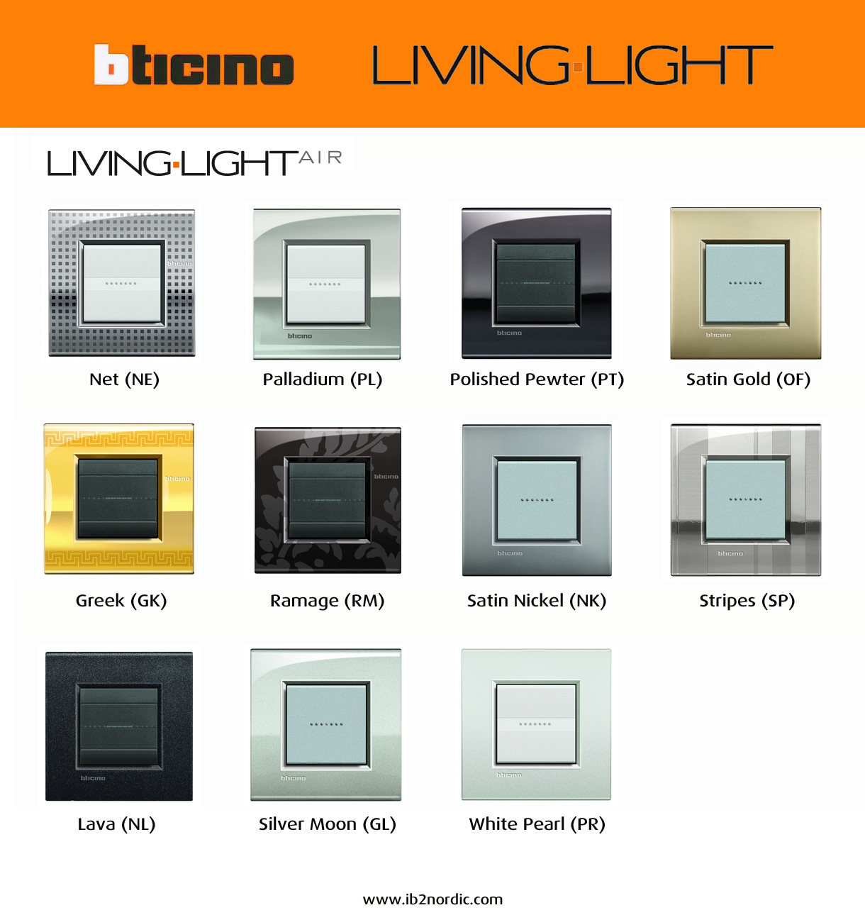 Ib2nordic new livinglight air for Bticino living