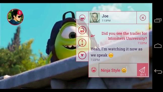 Ninja SMS android apk - Screenshoot