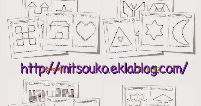 La maternelle de Laurène: Fiches allumettes chez Mitsouko