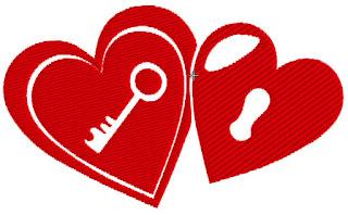 motif broderie machine gratuite coeur saint valentin
