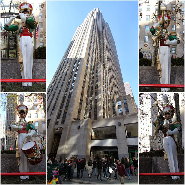 The popular shopping mall of Rockefeller Center in the downtown of Manhattan, New York, USA