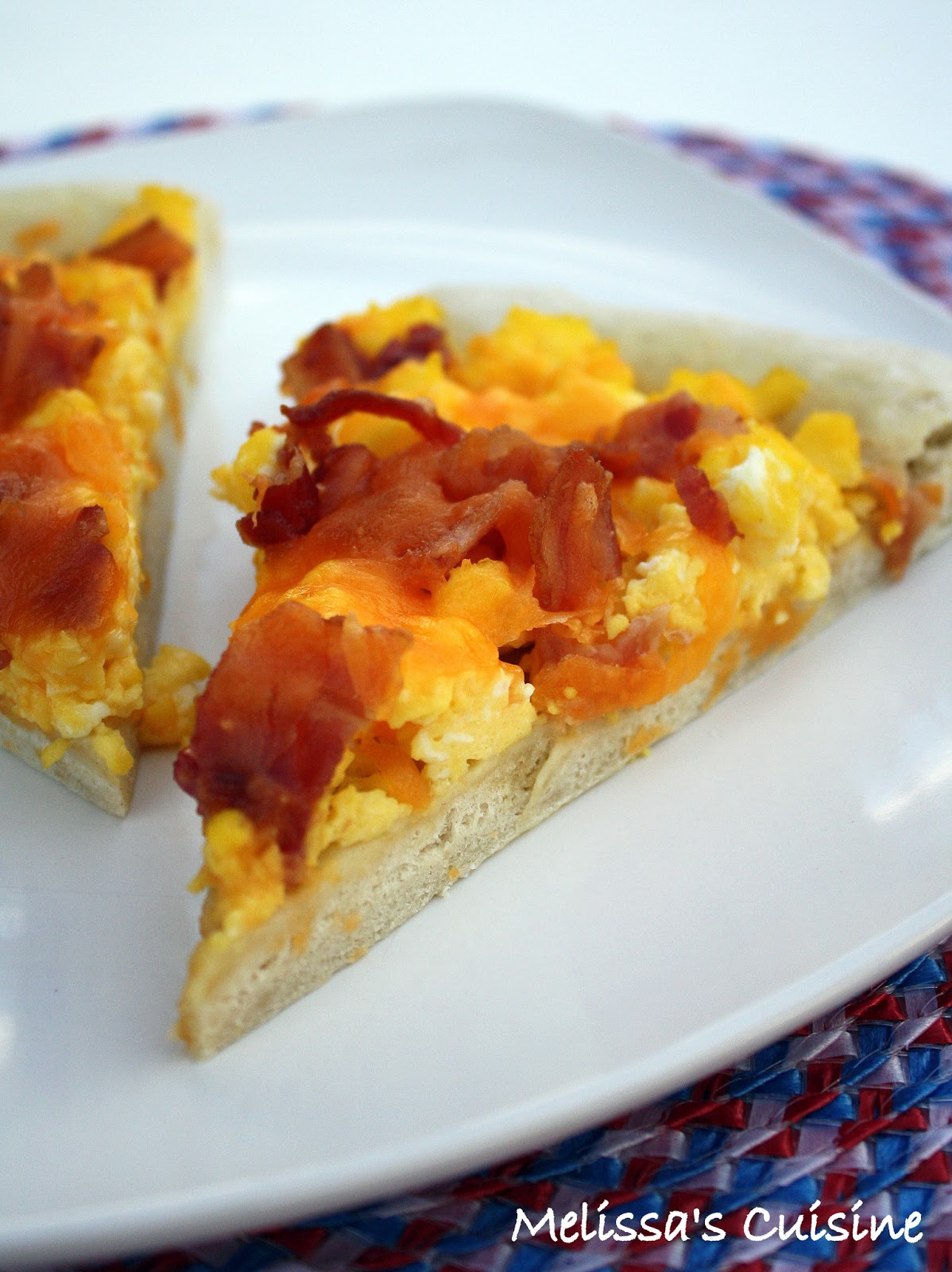 Melissa's Cuisine: Breakfast Pizza with Eggs and Bacon