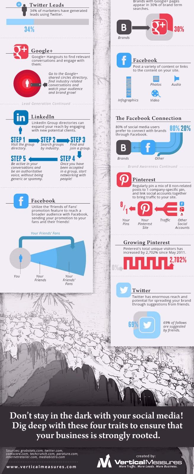 Infographie: développer une entreprise grâce aux médias sociaux