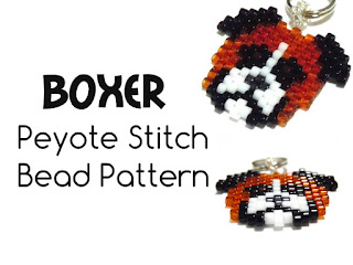 Click here for more info. about the Peyote Stitch Boxer Pattern.