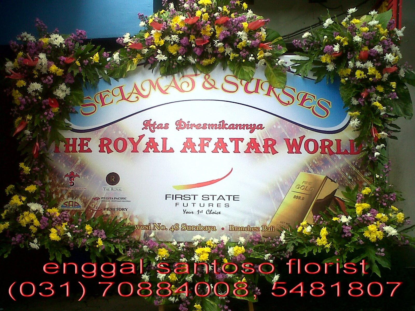 bunga papan banner digital printing peresmian