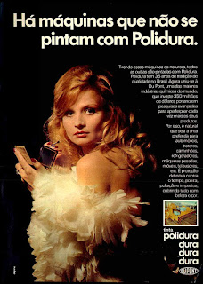 Anúncio tintas Polidura - 1974. anos 70.  1974. década de 70. os anos 70; propaganda na década de 70; Brazil in the 70s, história anos 70; Oswaldo Hernandez;