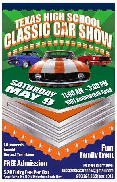 Around Texarkana Texas High School Classic Car Show Scheduled For - Fun car show award categories