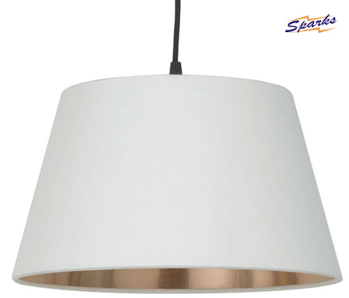 Xander Cone Pendant Light with White Shade (NX101)