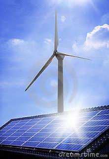 molino eolico y panel solar
