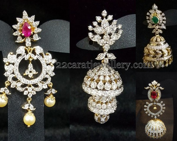 More Patterns of Diamond Jhumkas