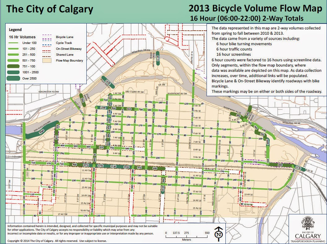 Calgary City News Blog First citywide bicycle count results released