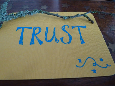 Trust card from my home made oracle deck