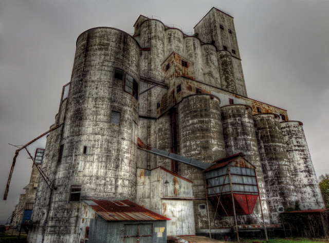 Silo Complex  at No Label Brewery in Katy, Texas - HDR