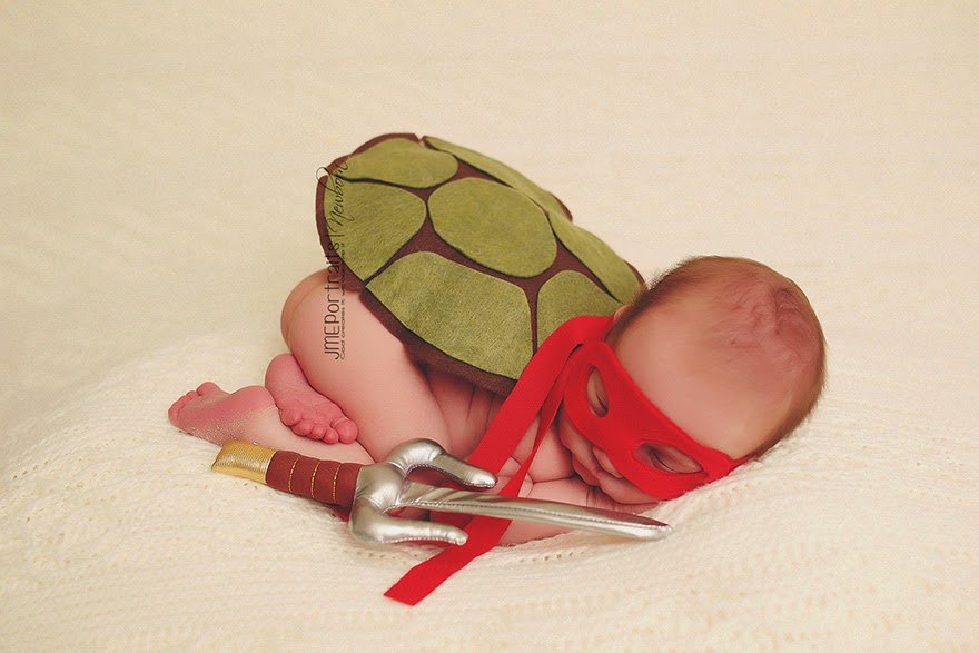 #21 Baby Ninja Turtle - 22 Geeky Newborns Who Are Following In Their Parents' Nerdy Footsteps