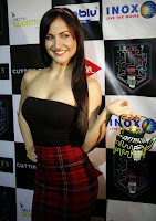 Elli Avram Spicy Half Top Mini Skirt at Cutting National College Chai Festival 2014