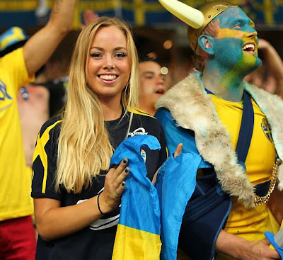 Sweden girls fans Euro 2012