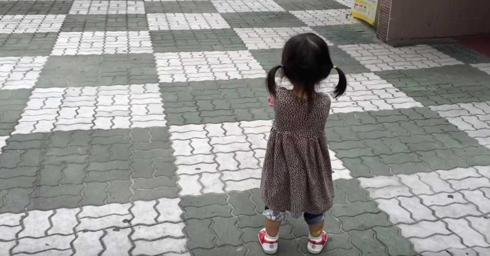 Sulking Toddler Is Cheered Up By Her Own Squeaky Shoes… And It's Epic.