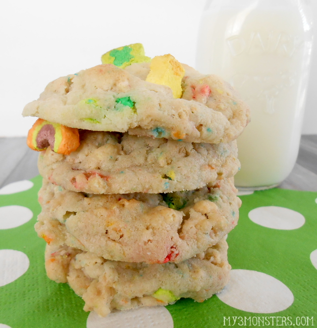 Lucky Charms Cookie recipe at my3monsters.com.  They're magically delicious!
