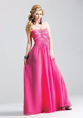 hot pink wedding dresses