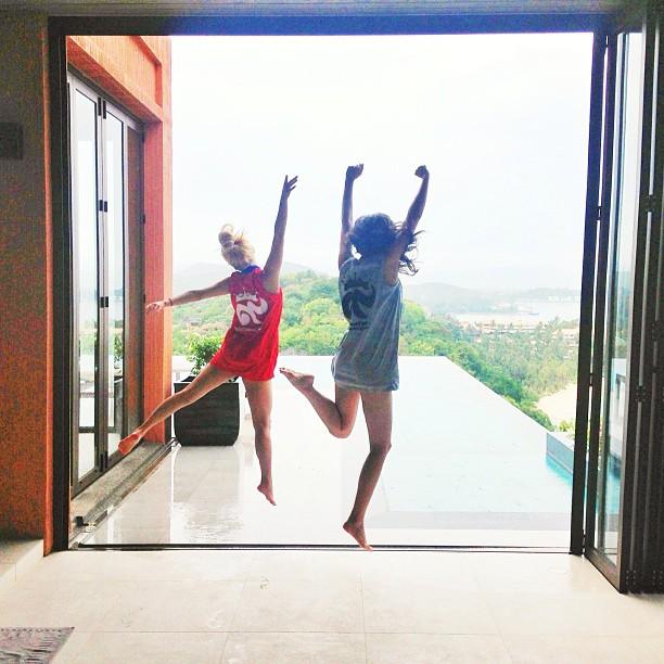 [Picture] 130503 Hyoyeon with Sririta Jensen at Sri Panwa Hotel