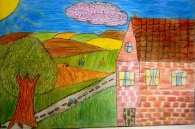 Desenho de um aluno do 5ºano
