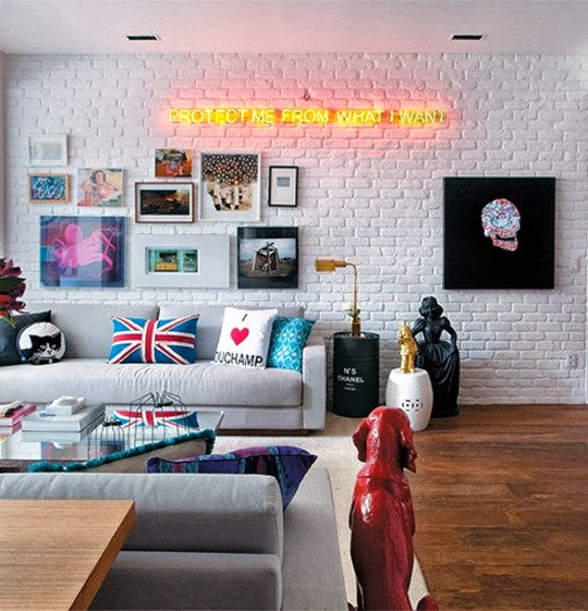 decor trend, neon sign, yolo sign, neon, home trends,