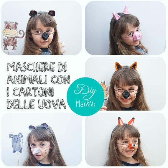 maschere di cartone per bambini