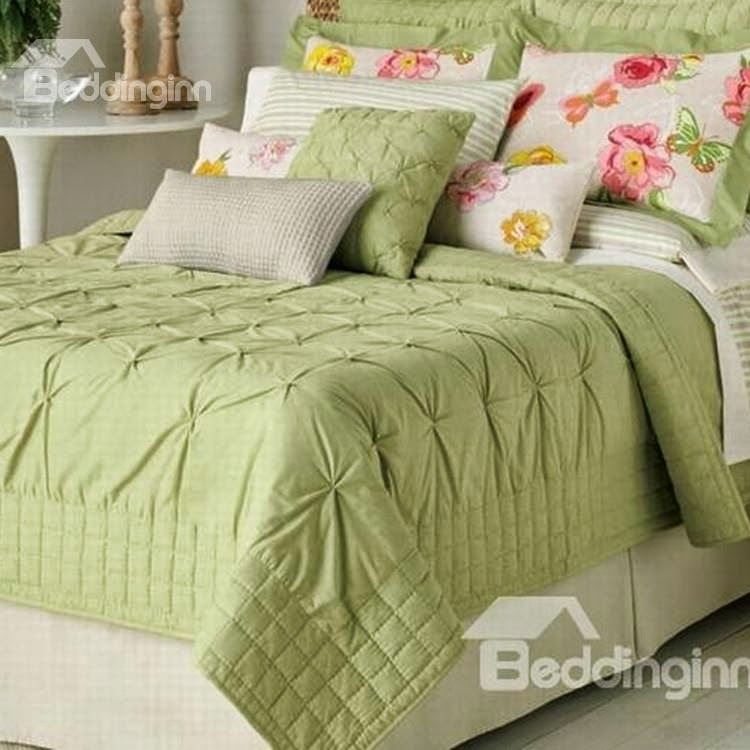 New Arrival Beautiful Green Drapes Patterns 3-piece Bed in a Bag Sets Item Code: 10874834