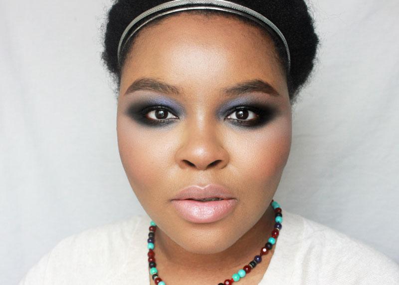 Winter Makeup, Smokey Eye Makeup, Black eye makeup, woc makeup, makeup for dark skin